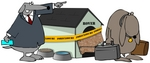 42350-clip-art-graphic-of-a-sad-dog-being-kicked-out-of-his-foreclosed-home-by-djart