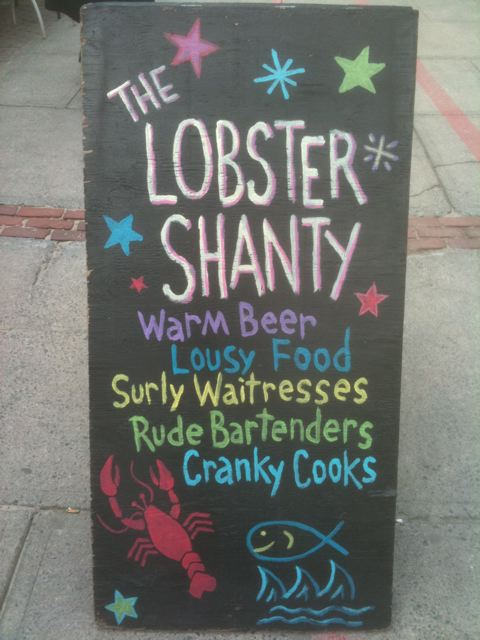 Lobster Shanty sign