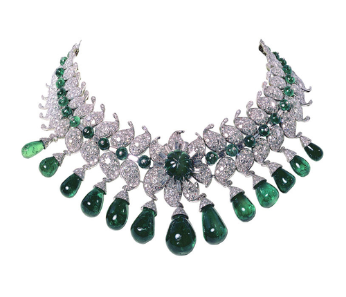 Van Cleef and Arpels-Personalities Maharini of Barodo Diamond Emerald Necklace